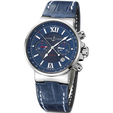 Ulysse Nardin Marine Series Mens Steel Case Watch 353-66/323