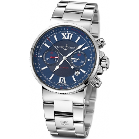 Ulysse Nardin Marine Steel Bracelet Mens Watch 353-66-7/323