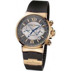 Ulysse Nardin Marine Series Mens Rose Gold Watch 356-66-3/319