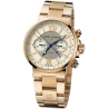Ulysse Nardin Marine Mens Rose Gold Bracelet Watch 356-66-8/354