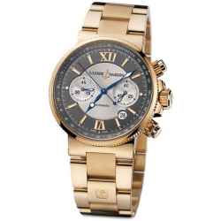 Ulysse Nardin Marine Rose Gold Bracelet Mens Watch 356-66-8/319