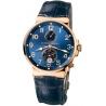 Ulysse Nardin Marine Blue Dial Rose Gold Mens Watch 266-66/623