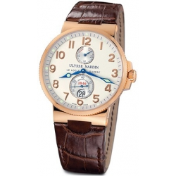 Ulysse Nardin Marine Series 18K Rose Gold Mens Watch 266-66