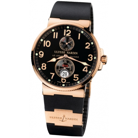 Ulysse Nardin Marine Series Black Dial Mens Watch 266-66-3/62
