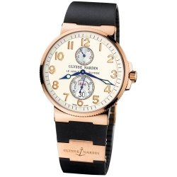 Ulysse Nardin Marine 18K Rose Gold Case Mens Watch 266-66-3