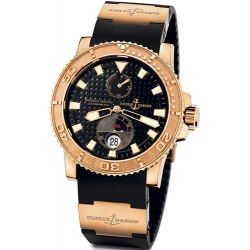 Ulysse Nardin Marine Rose Gold Rubber Mens Watch 266-33-3/92