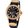 Ulysse Nardin Marine Rose Gold Rubber Mens Watch 266-33-3/92