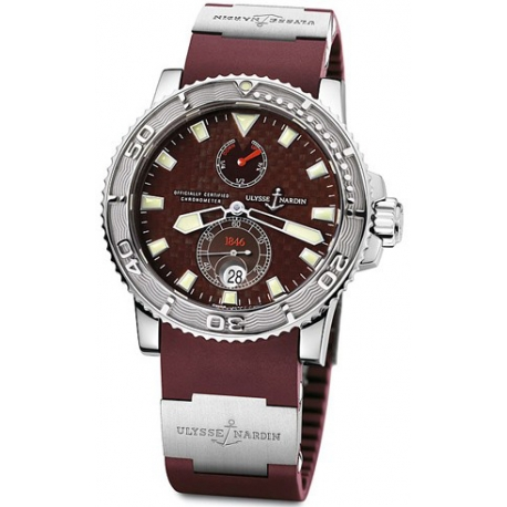 Ulysse Nardin Marine Burgundy Dial Mens Watch 263-33-3/95