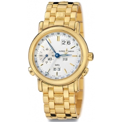 Ulysse Nardin GMT Perpetual Gold Bracelet Mens Watch 321-22-8