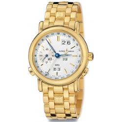 Ulysse Nardin GMT Perpetual Gold Bracelet Mens Watch 321-22-8