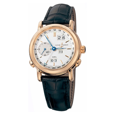 Ulysse Nardin GMT Perpetual 18K Rose Gold Mens Watch 326-22