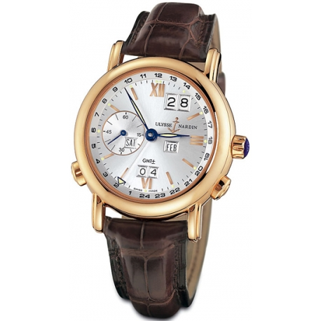 Ulysse Nardin GMT Perpetual Rose Gold Mens Watch 326-82/31