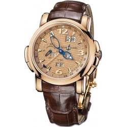 Ulysse Nardin GMT Perpetual Copper Dial Mens Watch 322-66