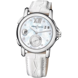 Ulysse Nardin GMT Big Date Pearl Dial Womens Watch 243-22/391