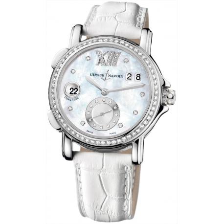Ulysse Nardin GMT Big Date Womens Diamond Watch 243-22B/391