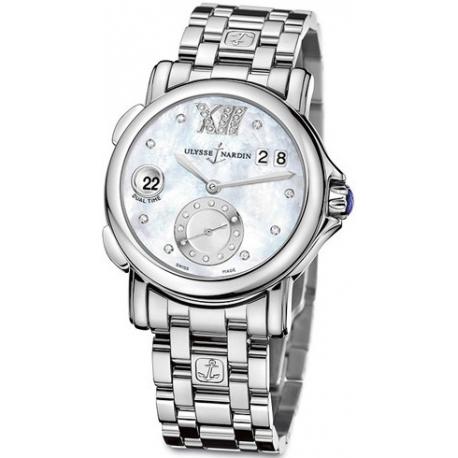 Ulysse Nardin GMT Big Date Womens Bracelet Watch 243-22-7/391