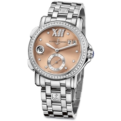 Ulysse Nardin GMT Big Date Womens Diamond Watch 243-22B-7/30-09
