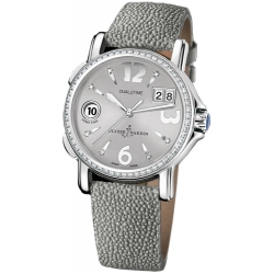 Ulysse Nardin GMT Big Date Diamond Womens Watch 223-28B/60-01
