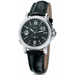 Ulysse Nardin GMT Big Date Black Dial Mens Watch 223-88/382