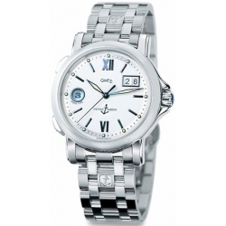 Ulysse Nardin GMT Big Date Mens Steel Bracelet Watch 223-88-7