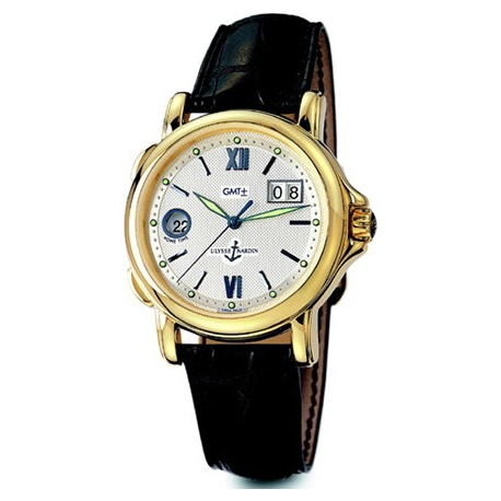 Ulysse Nardin GMT Big Date Yellow Gold Mens Watch 221-88