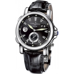 Ulysse Nardin GMT Big Date Mens Black Dial Watch 243-55/92