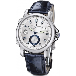 Ulysse Nardin GMT Big Date Mens Silver Dial Watch 243-55/91