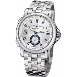 Ulysse Nardin GMT Big Date Mens Steel Bracelet Watch 243-55-7/91