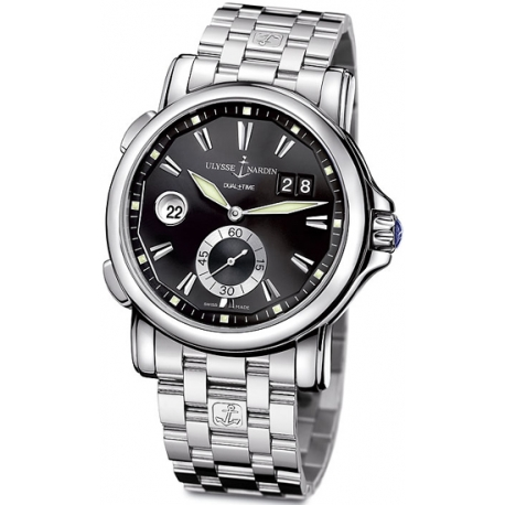 Ulysse Nardin GMT Big Date Steel Bracelet Mens Watch 243-55-7/92