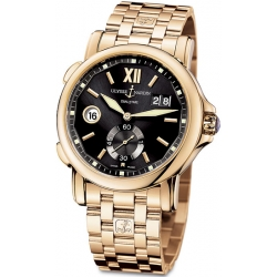 Ulysse Nardin GMT Big Date Rose Gold Bracelet Mens Watch 246-55-8/32