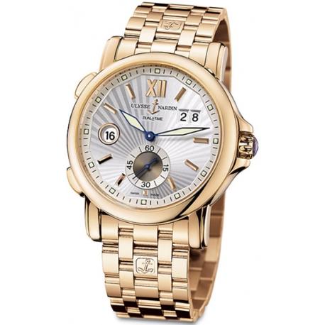 Ulysse Nardin GMT Big Date Rose Gold Bracelet Mens Watch 246-55-8/31