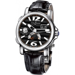 Ulysse Nardin GMT Big Date Black Dial Mens Watch 243-55-62