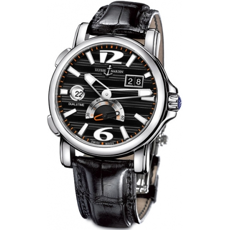 Ulysse Nardin GMT Big Date Black Dial Mens Watch 243-55-62