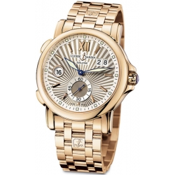 Ulysse Nardin GMT Big Date Rose Gold Bracelet Watch 246-55-8/30