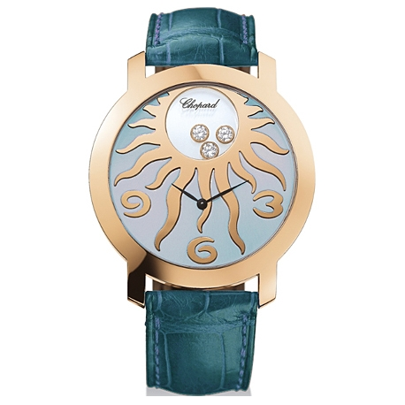 Chopard Happy Diamonds Blue Dial Womens Watch 207469-5001