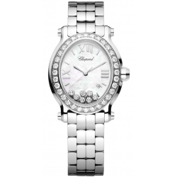 Chopard Happy Sport Oval Diamond Bracelet Womens Watch 278546-3004