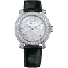 Chopard Happy Sport Round White Gold Womens Watch 277480-1001