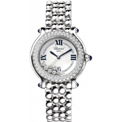 Chopard Happy Sport Round Steel Bracelet Womens Watch 278291-2005