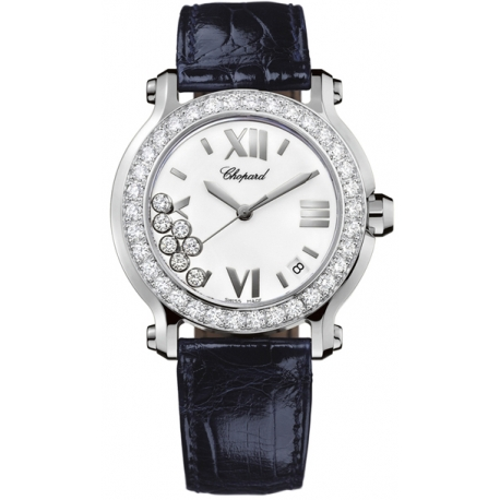 Chopard Happy Sport Round Diamond Womens Watch 278476-2001