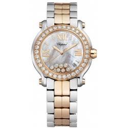 Chopard Happy Sport Womens Two Tone Watch 278488-6001