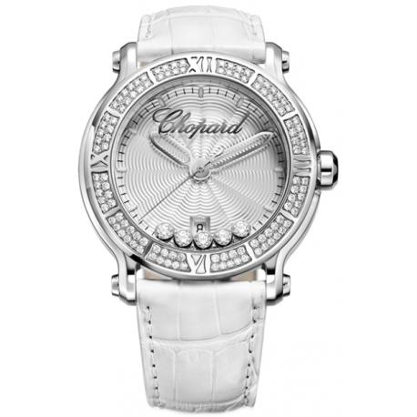 Chopard Happy Sport Round Steel Womens Watch 288525-3003