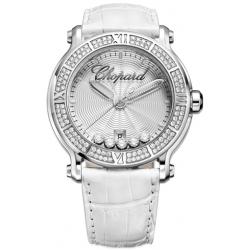 Chopard Happy Sport Round Stainless Steel Womens Watch 288525-3003