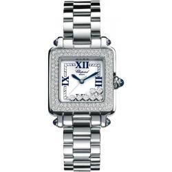 Chopard Happy Sport Square Diamond Womens Watch 278358-2004