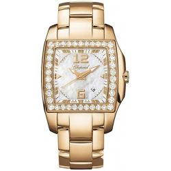 Chopard Two O Ten Womens Rose Gold Diamond Watch 107468-5001