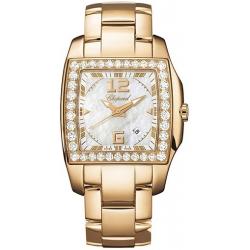 Chopard Two O Ten Womens Rose Gold Diamond Watch 107468-5001