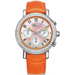 Chopard Elton John Womens Coral Dial Diamond Watch 178331-2003
