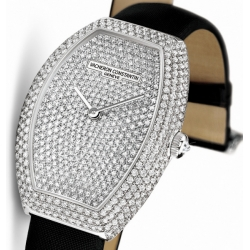 Vacheron Constantin Egerie Pave Diamond Womens Watch 81541/000G-9056