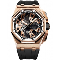 26421OR.OO.A002CA.01 Audemars Piguet Royal Oak Offshore Tourbillon Chronograph 18K Pink Gold Watch