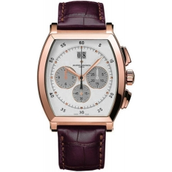Vacheron Constantin Malte Rose Gold Chrono Mens Watch 49180/000R-9361