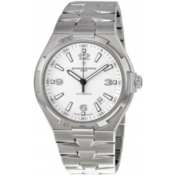 Vacheron Constantin Overseas Mens Steel Bracelet Watch 47040/B01A-9093